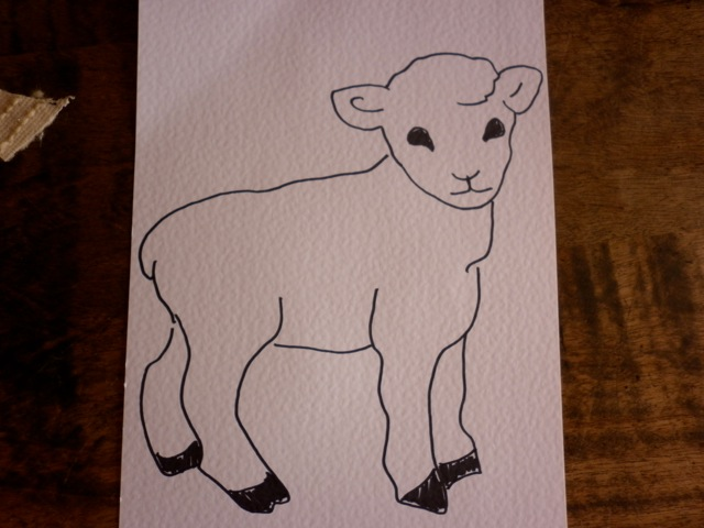 Line Drawing Of Sheep Face : Best scribble drawings images pencil